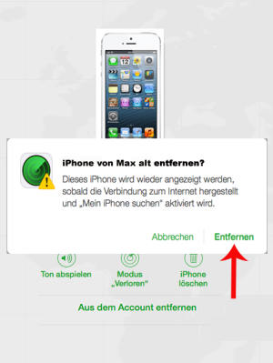 iphone-von-entfernen-bestätigen