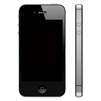 iPhone 4 Display schwarz