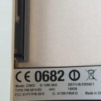 Sony Z3 compact - Label links unten hinter SIM Klappe
