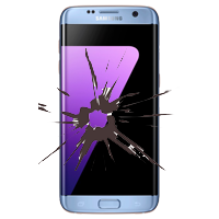 Samsung Galaxy S7 edge Display Reparatur blau