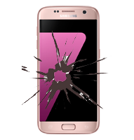 Samsung Galaxy S7 edge Display Reparatur pink