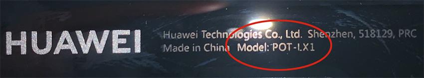 Welches Huawei Handy habe ich - Modellnummer Huawei auf Backcover